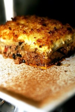 moussaka piatto greco