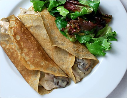 Crepes funghi