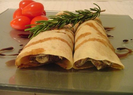 Crepes con funghi