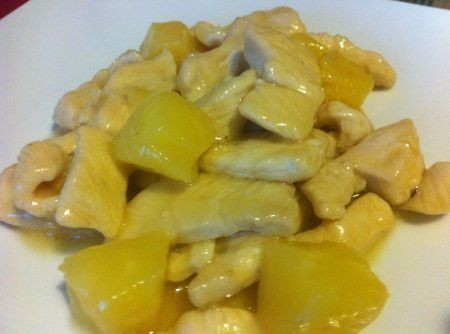 petto di pollo all'ananas