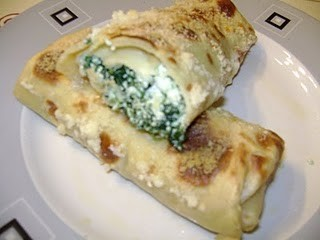 Crepes spinaci e ricotta