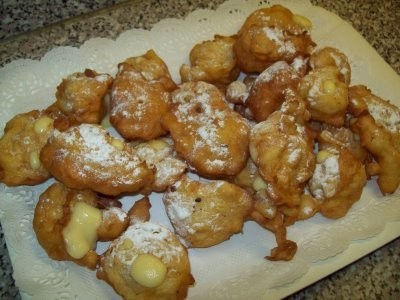 piatto frittelle alla crema