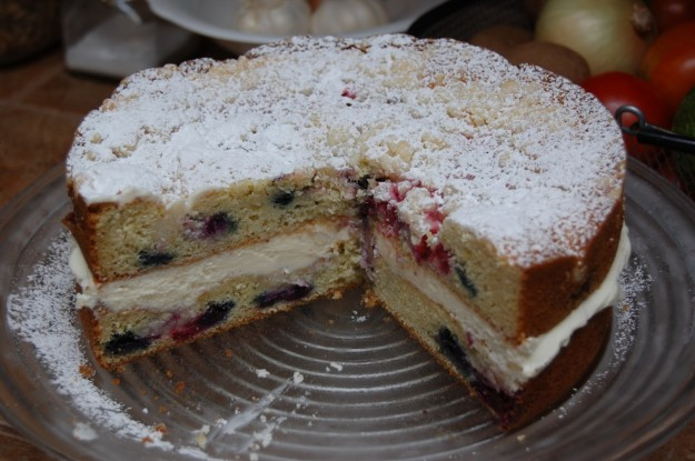 Lemon Berry Mascarpone Cake For Sale