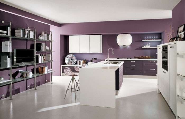 Pareti Colorate Cucina. Top Acryl Cucina Con Bar E Misti Due ...