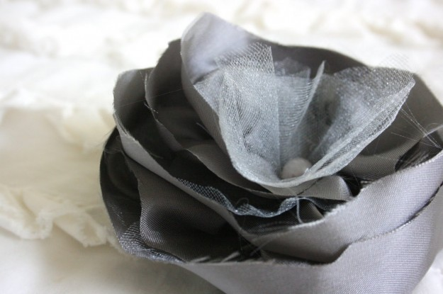 Fiore stoffa tulle