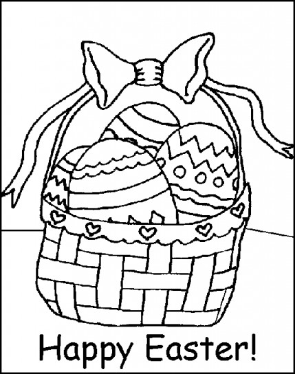 Disegno di un cestino di Pasqua