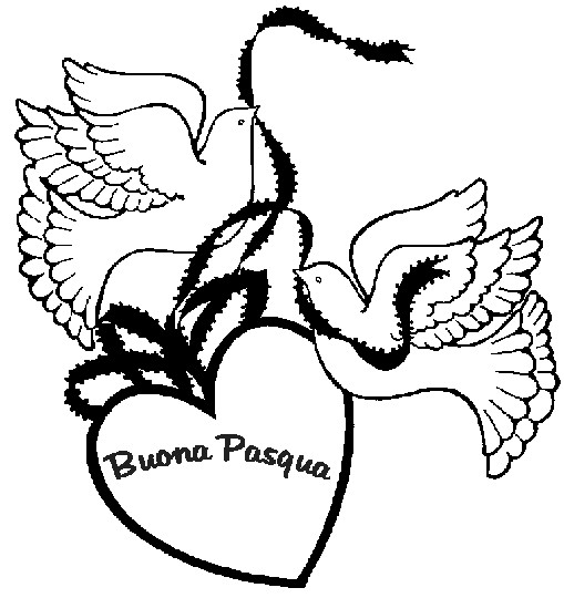 Colombe di buona Pasqua