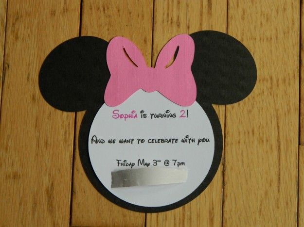 Handmade Mickey Mouse Invitations with adorable invitation template
