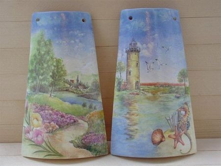 Decoupage: come decorare le tegole