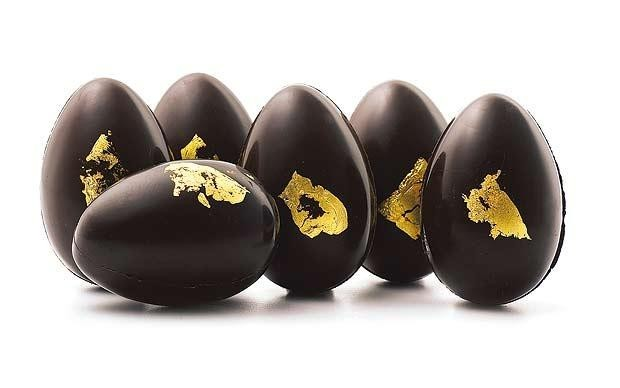 Uova di Pasqua di cioccolato preziose