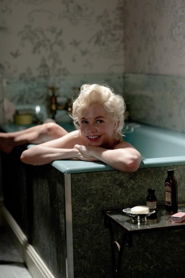 Michelle Williams nei panni di Marylin Monroe 