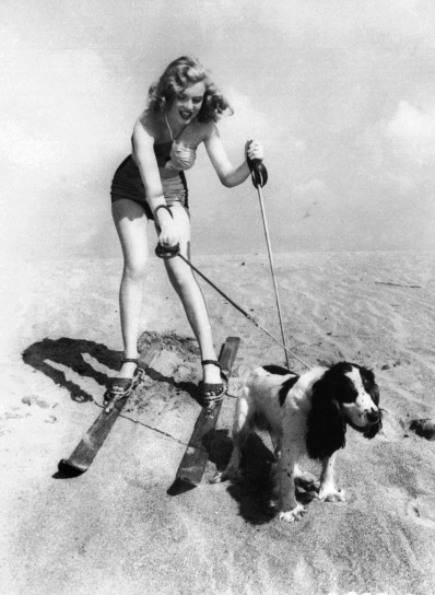 Marylin Monroe con un cagnolino