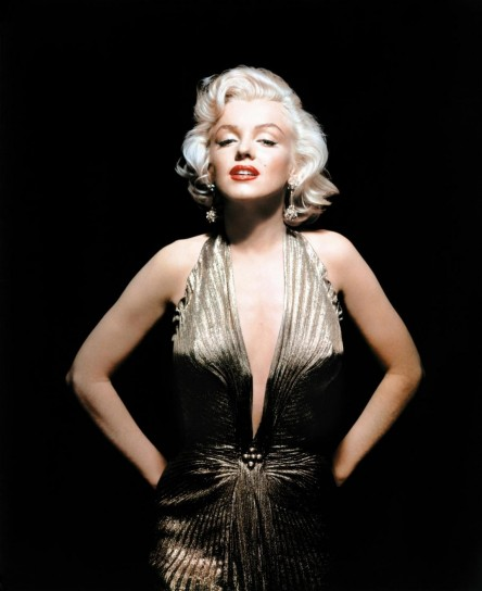 Marylin Monroe con un abito da sera