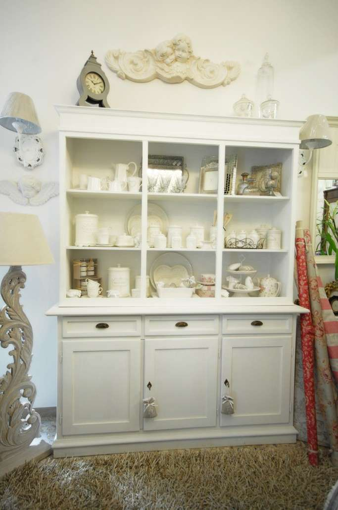 Finest mobile bianco in stile country with mobili stile inglese bianco with arredamento stile - Mobili stile inglese ...