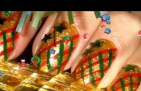 Unghie Natale: nail art oro