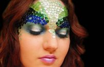 Halloween tutorial trucco con paillettes