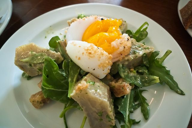 St. John Bread & Wine: artichoke & duck egg salad