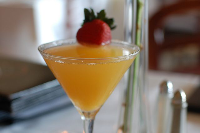 The Bellinitini is a signature cocktail at Bellini's