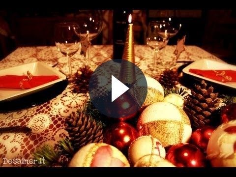 Come addobbare la tavola di Natale 2011, video tutorial semplice e veloce