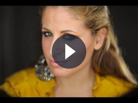 Make up occhi colorato, arancio per brillare in estate [VIDEO]