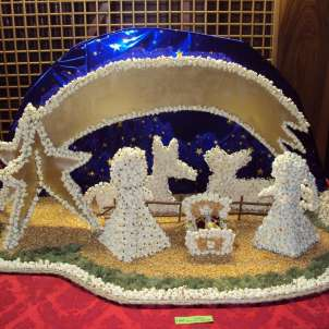 Presepe con i pop corn