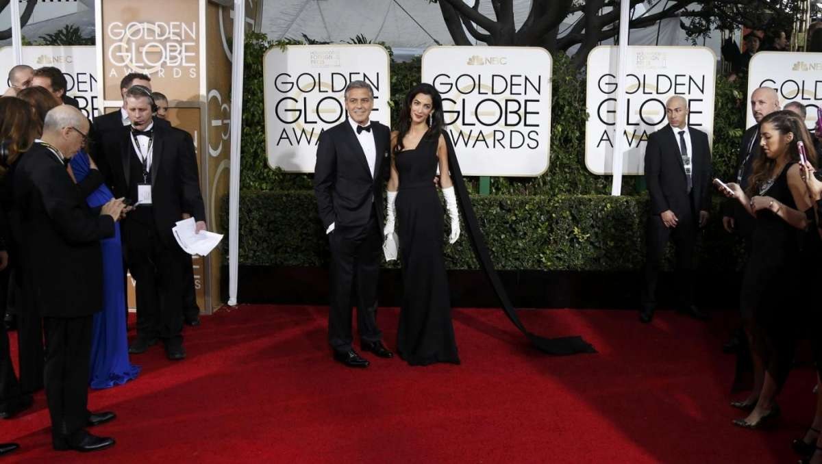 George Clooney e Amal Alamuddin sul red carpet a Beverly Hills