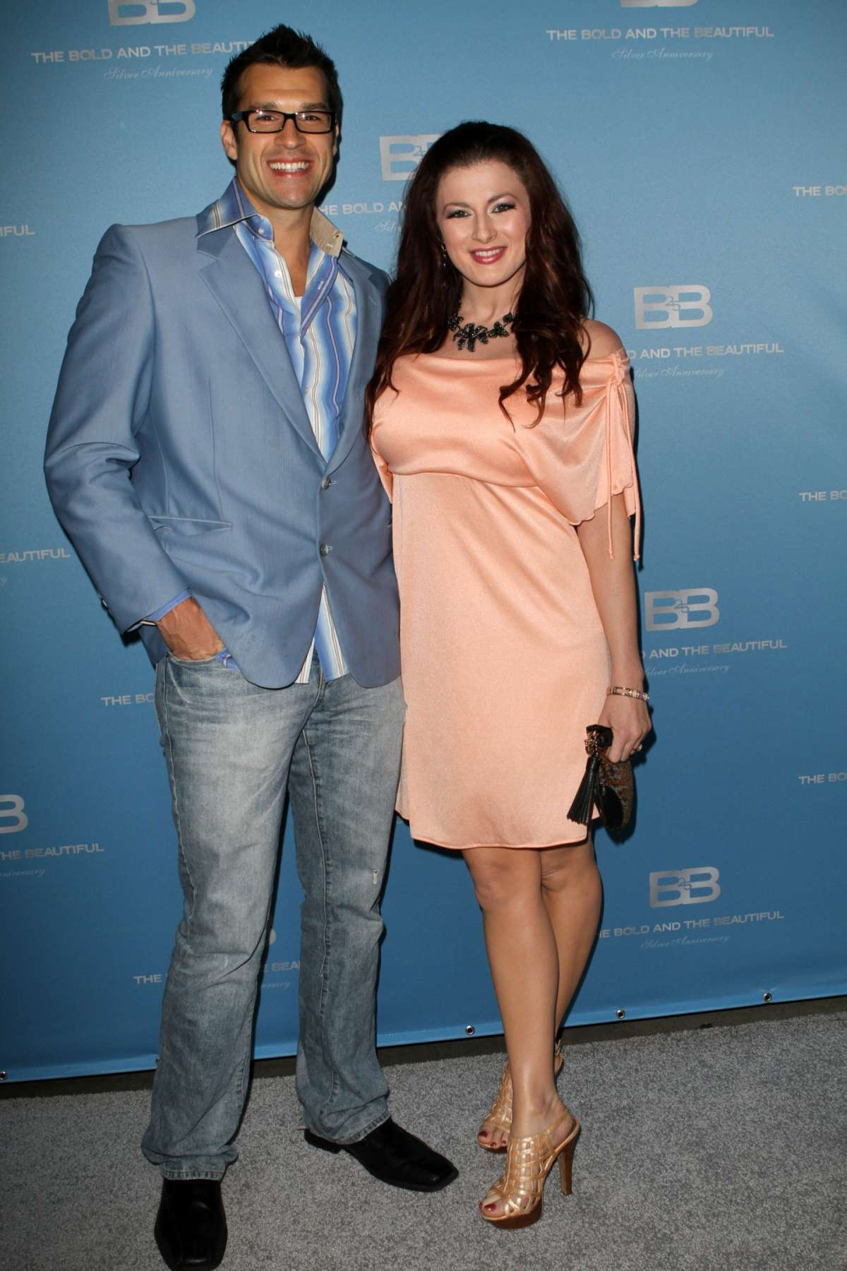 Brendon Villegas e Rachel Reilly al 25esimo anniversario di Beautiful
