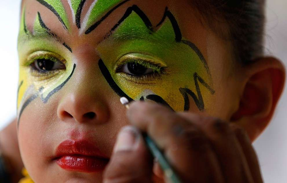 Make up fantasioso in verde