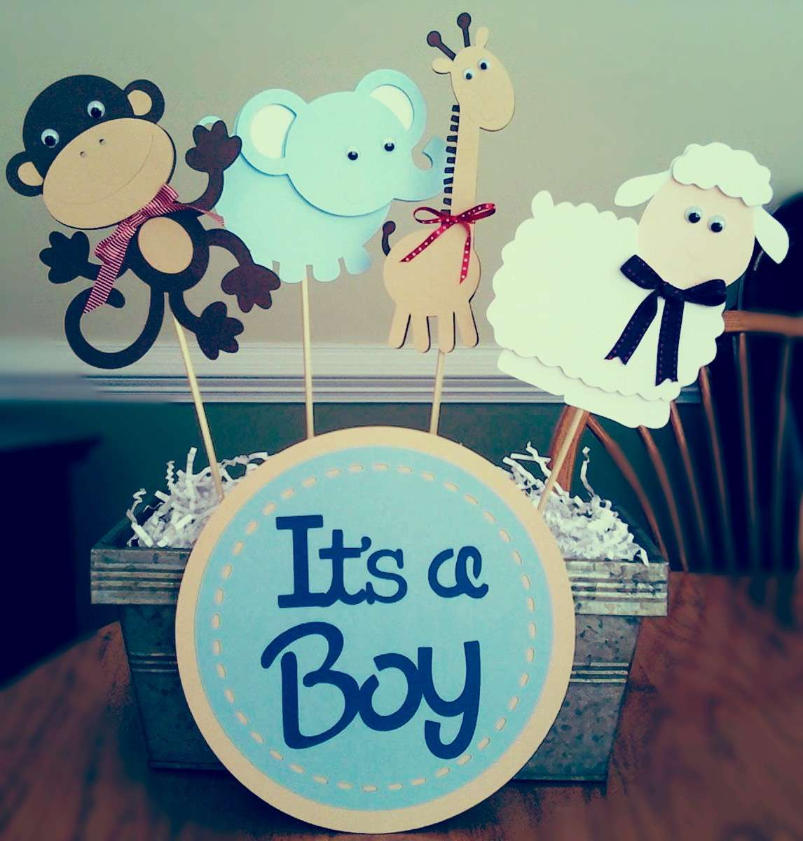 Baby Shower: centrotavola per maschietto