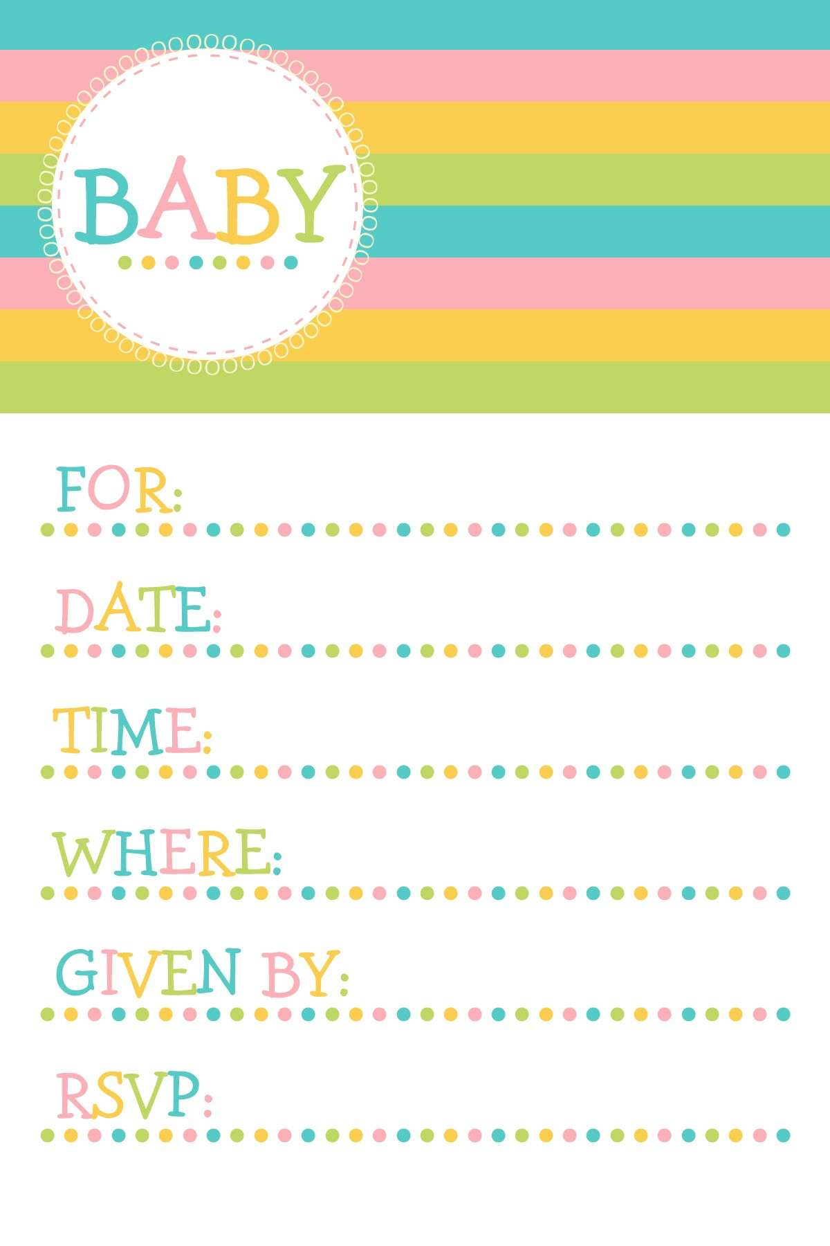 Baby Shower: inviti