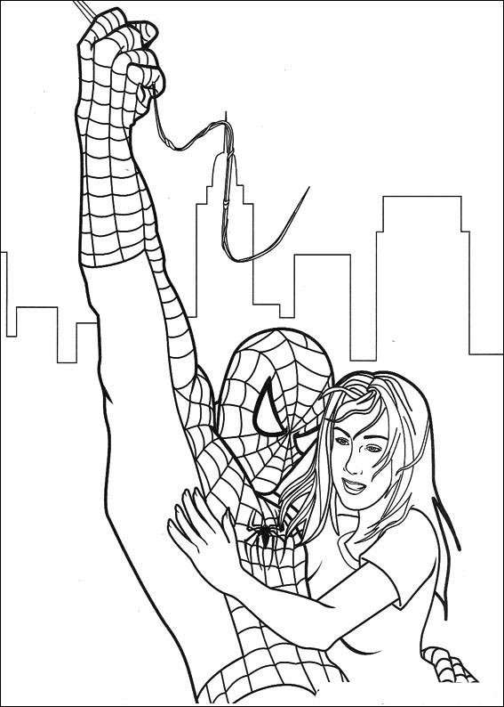 Spiderman salva una donna