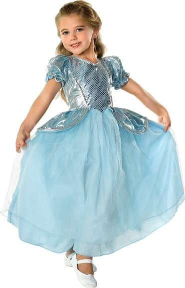Costume con la gonna di tulle azzurra