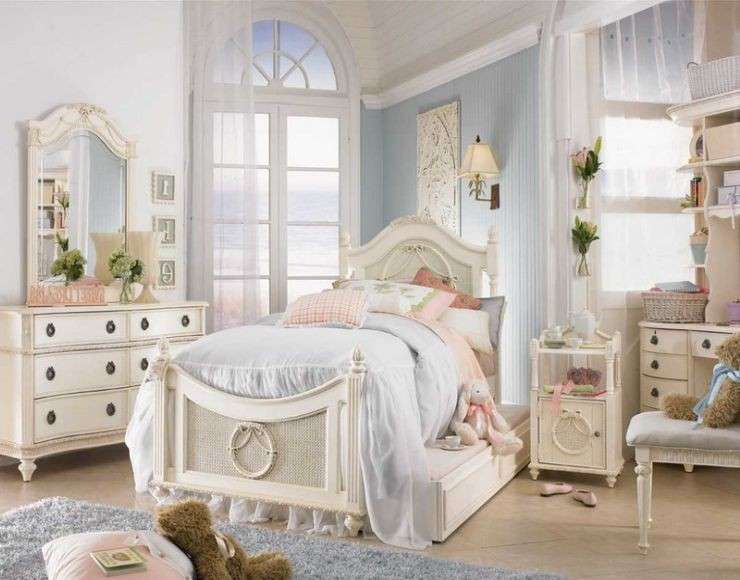 camerette shabby chic per ragazze foto mamma pourfemme. Black Bedroom Furniture Sets. Home Design Ideas