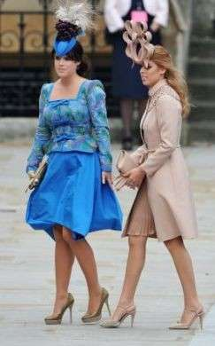 Matrimonio William e Kate Eugenie e Beatrice