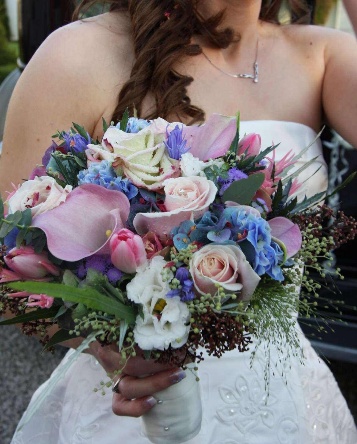 Bouquet sposa invernale multicolor