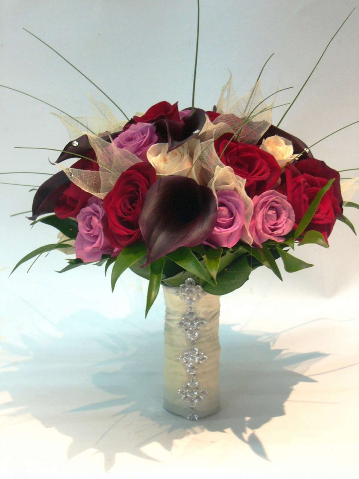 Bouquet sposa Natale in rosa