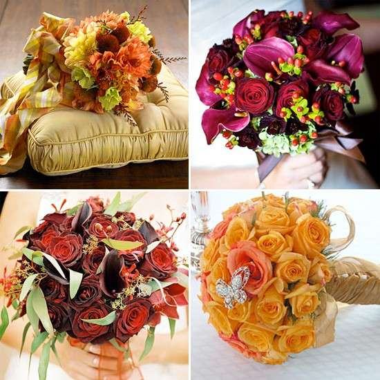 Bouquet chic per un matrimonio autunnale
