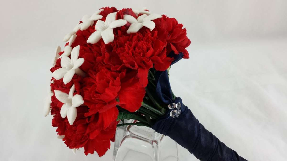 Bouquet rosso chic
