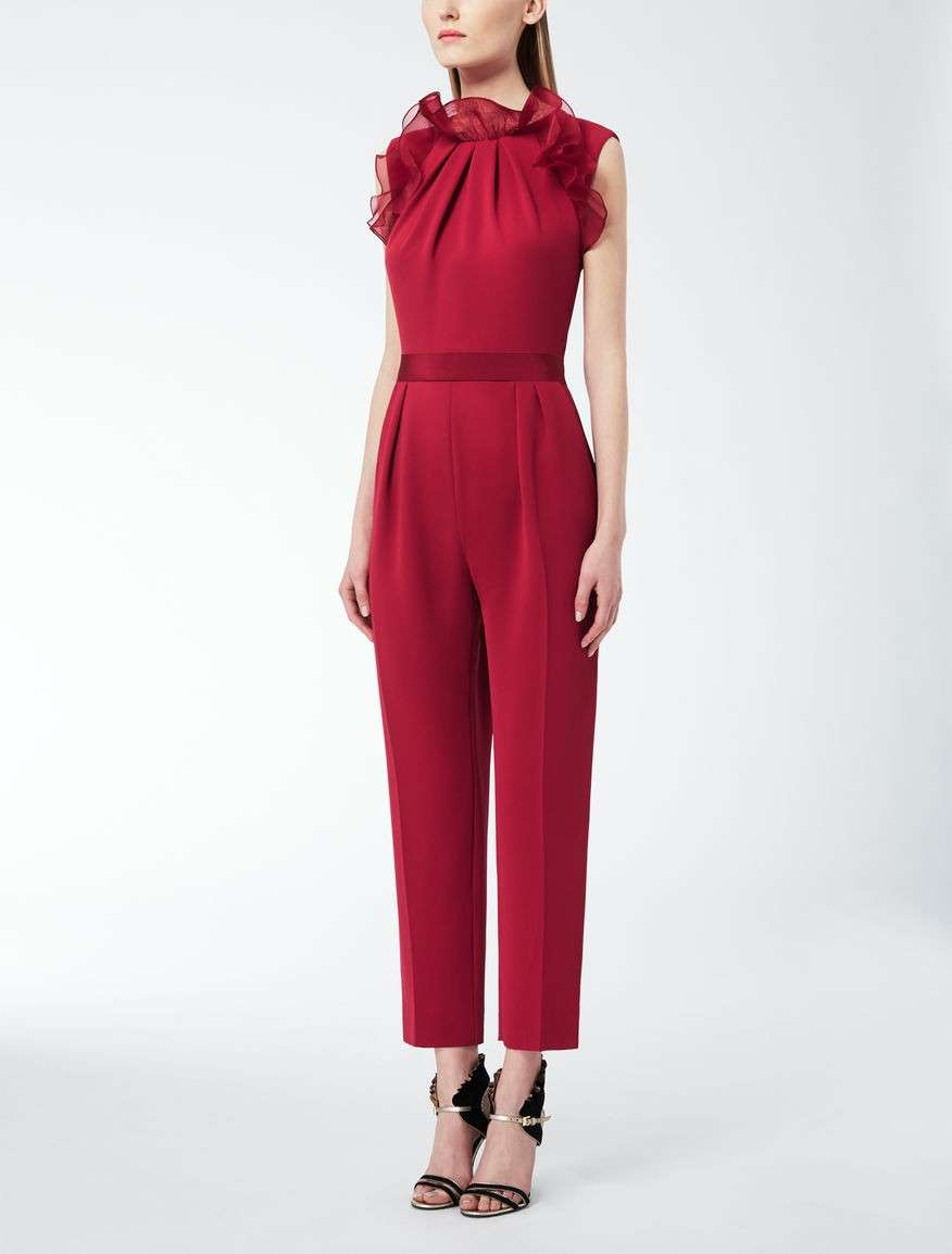 Jumpsuit in cady e organza