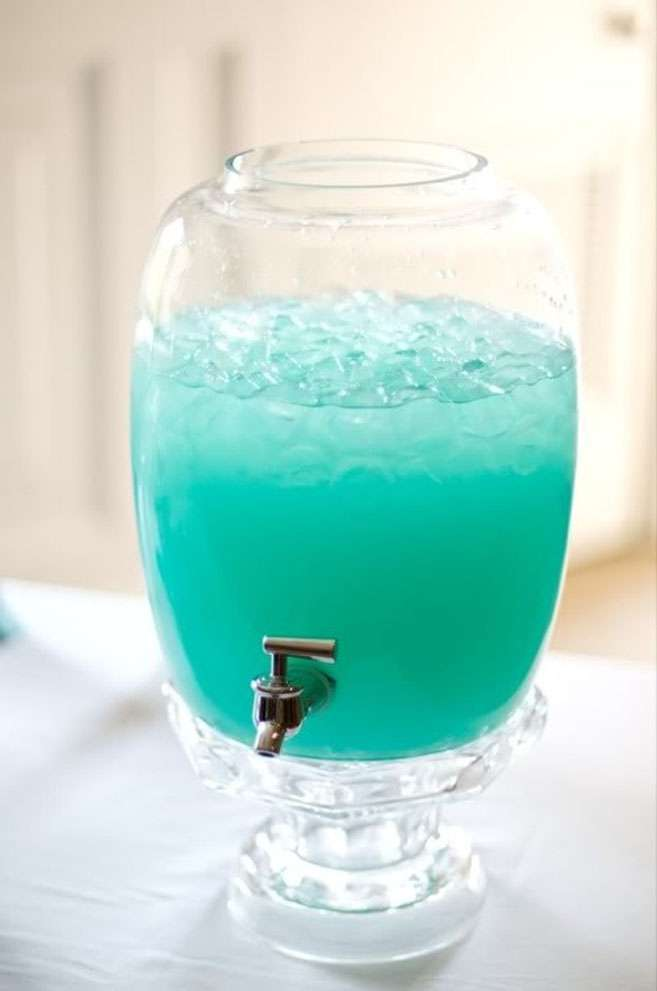Cocktail di nozze color tiffany