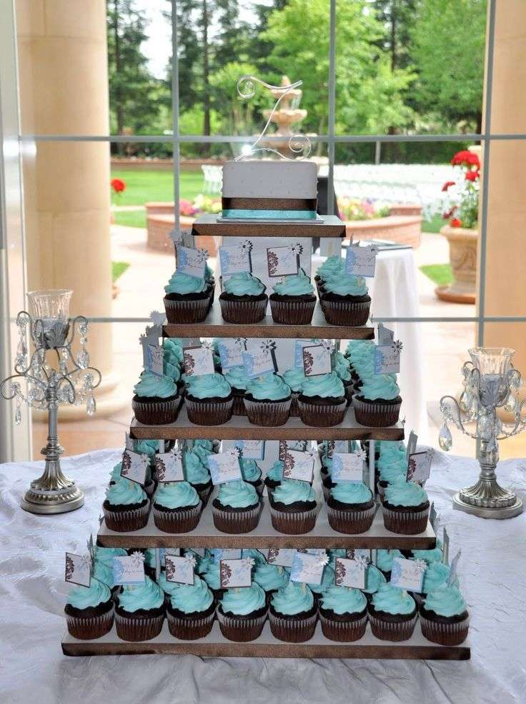 Cupcakes color tiffany