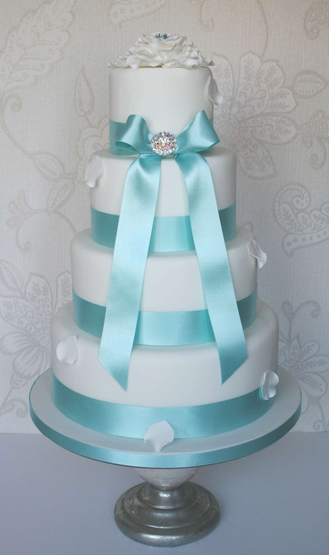 Torta nuziale color tiffany