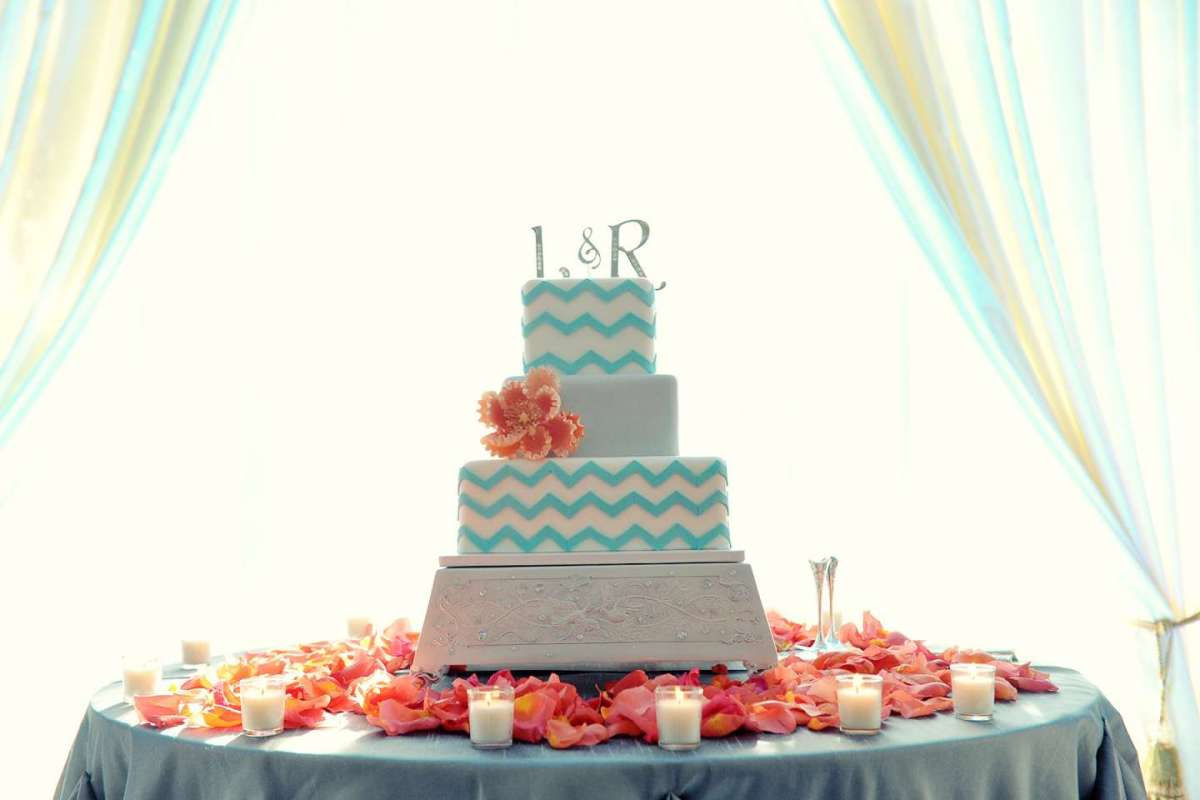 Torta quadrata color tiffany