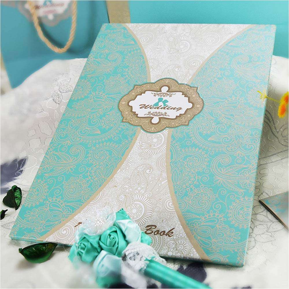 Wedding book color tiffany