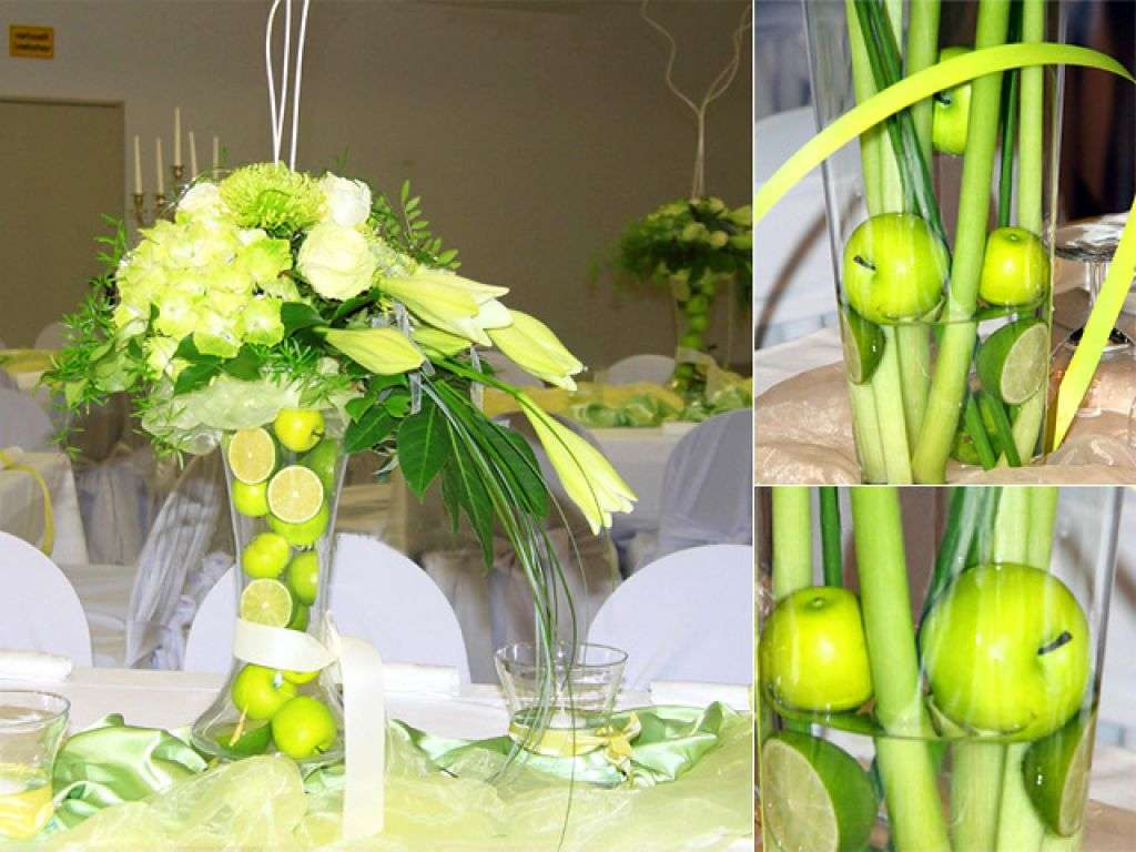 Decorazioni con mele e lime