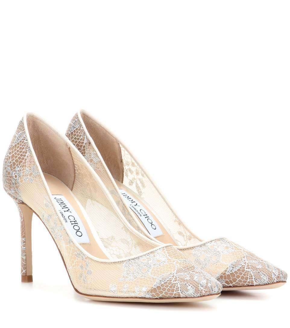 Décolletés in pizzo Jimmy Choo