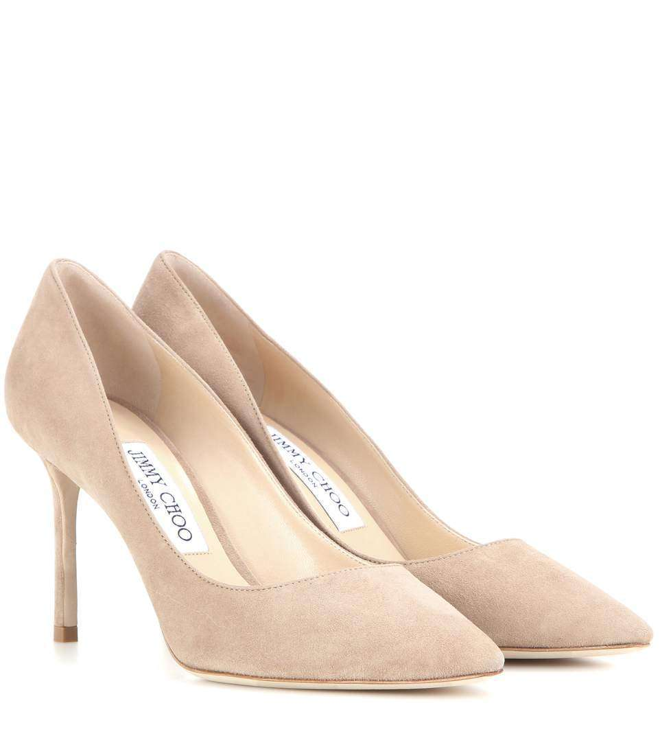 Dècolletès nude in suede Jimmy Choo