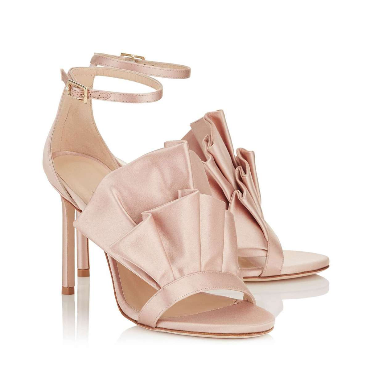 Sandali in satin rosa Jimmy Choo
