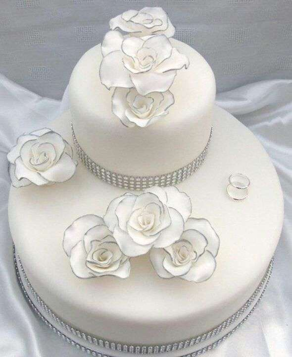 Wedding cake bianca e nera