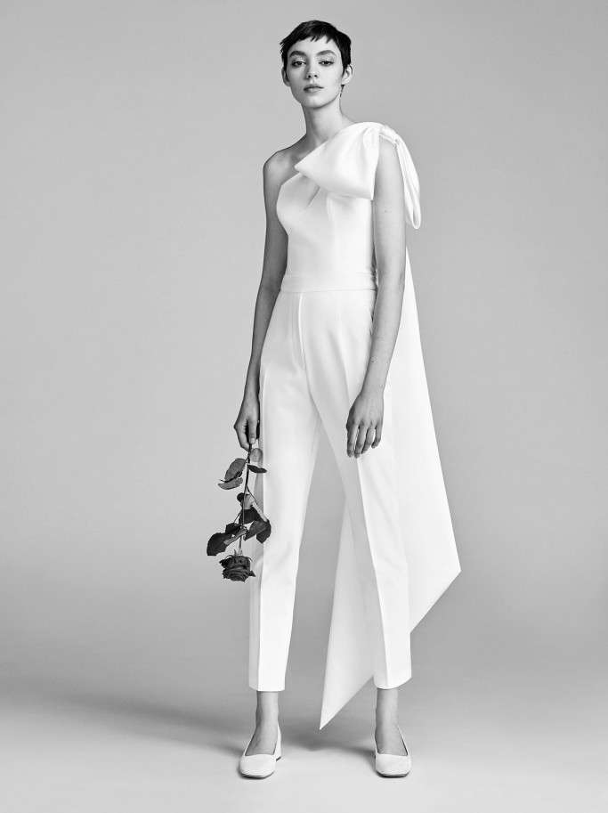 Jumpsuit da sposa Vicktor and Rolf